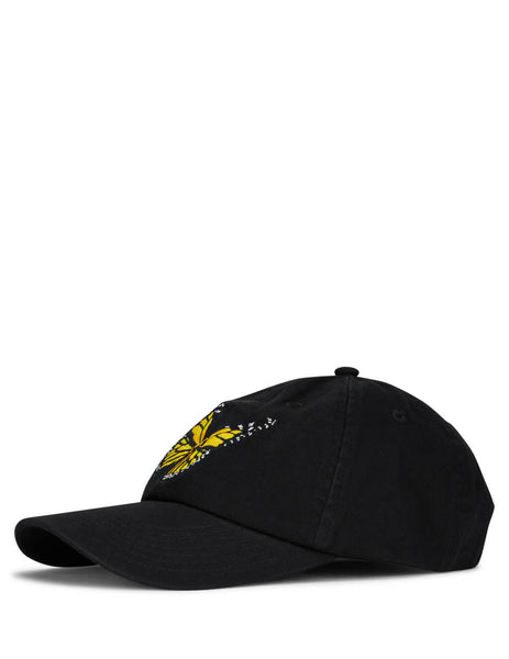 Palm Angels Men's Black Butterfly Cap PMLB009S202240221088