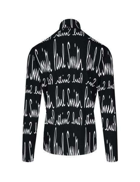 Archive Print Roll Neck Top