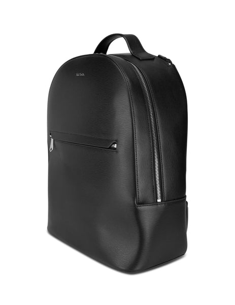 Men's Paul Smith Embossed Leather Backpack in Black. M1A-5835-A40190-79
