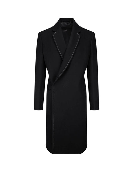 Paul Smith Men's Black Felted Wool Overcoat M1R-370UT-E00129-79