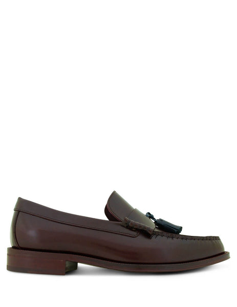 Paul Smith Men's Burgundy Lewin Leather Loafers M1S-LEW02-ATEC-28