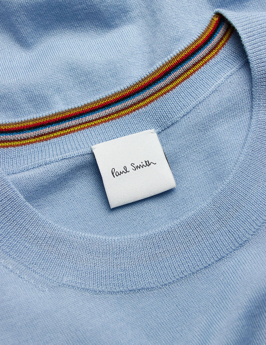Men's Paul Smith Merino Wool Sweater in Light Blue - M1R-053U-E01200-44