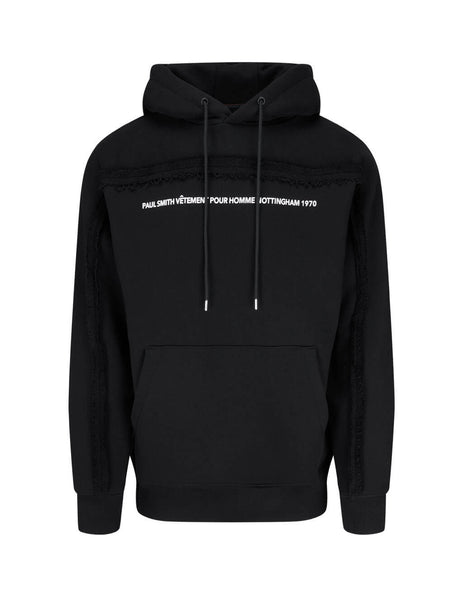 Men's Paul Smith Pauls First Shop Print Hoodie in Black - M1R-346U-EP2343-79