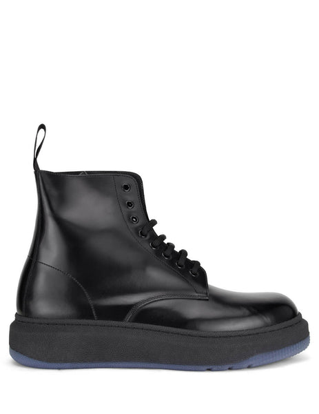 Men's Paul Smith Renzo Leather Boots in Black - M1S-REN01-ECLF-79