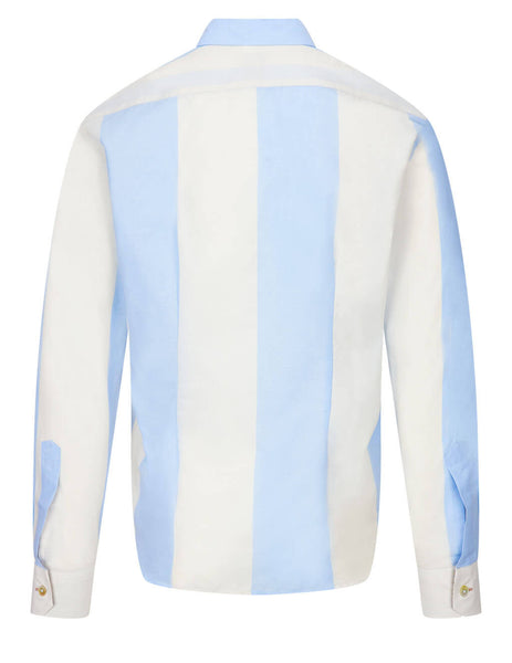 Men's Paul Smith Slim Fit Striped Shirt in Blue/White - M1R-006L-F01437-41