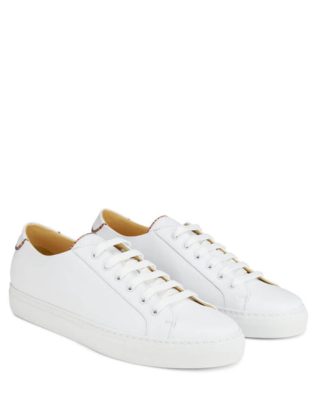 Paul Smith Men's White Sotto Leather Trainers M1S-SOT14-ATRI-01