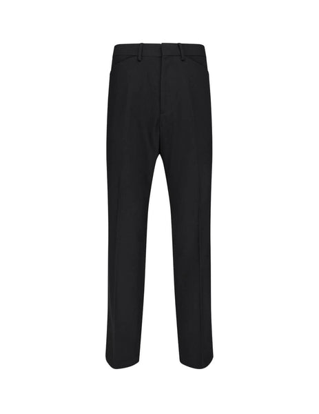 Men's Paul Smith Wool-Blend Slim Fit Trousers in Black - M1R-352U-E01235-79