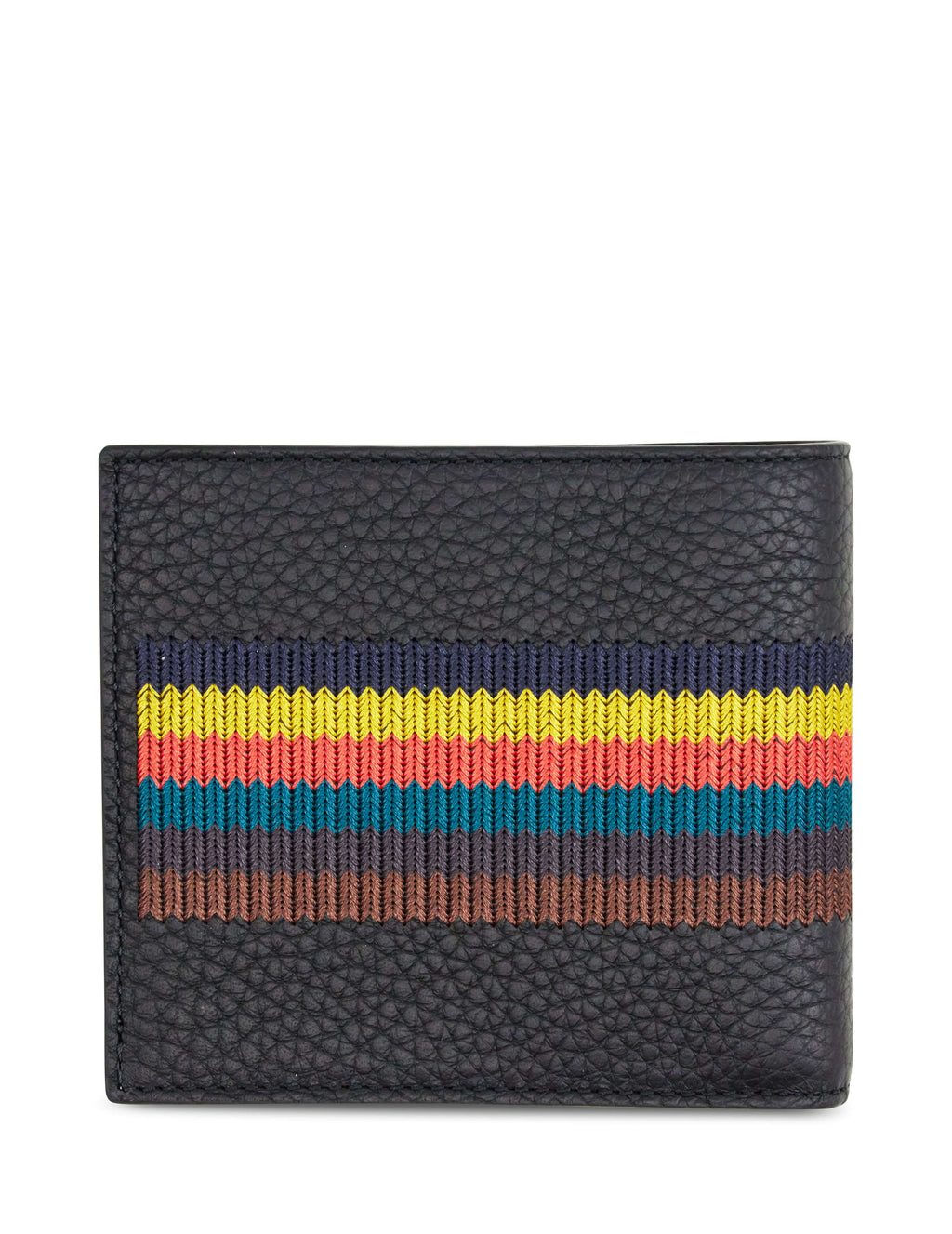 Paul Smith Men's Giulio Fashion Black Bright Stripes Billfold Wallet M1A4832A4007479