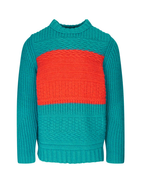 Paul Smith Men's Giulio Fashion Turquoise Colour Block Knit M1R392TA0090542
