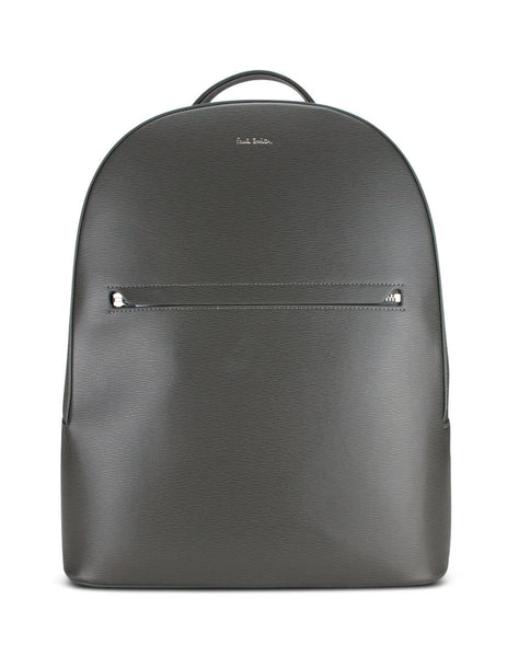 Paul Smith Men's Giulio Fashion Grey Embossed Leather Backpack M1A-5835-A40190-70