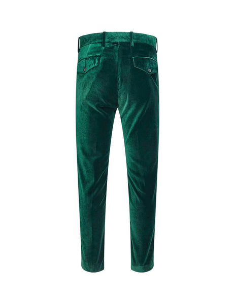 Paul Smith Men's Giulio Fashion Green Gent's Formal Velvet Trousers M1R199TC0001839