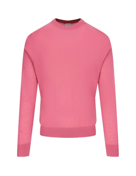 Men's Paul Smith Merino Wool Sweater in Pink - M1R-053U-E01200-53