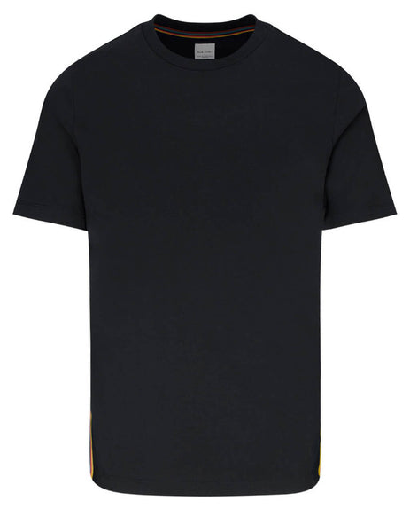Paul Smith Men's Giulio Fashion Black Multi Stripe T-Shirt M1R-697PS-D00084-79