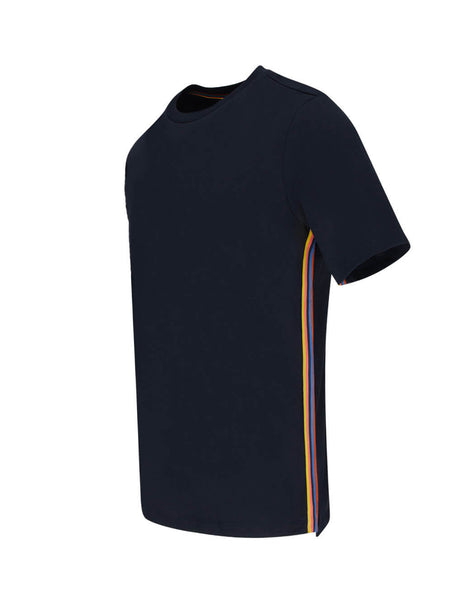 Paul Smith Men's Giulio Fashion Navy Blue Multi Stripe T-Shirt M1R-697PS-D00084-49
