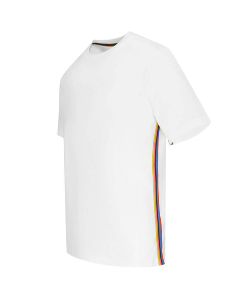 Paul Smith Men's Giulio Fashion White Multi Stripe T-Shirt M1R-697PS-D00084-01