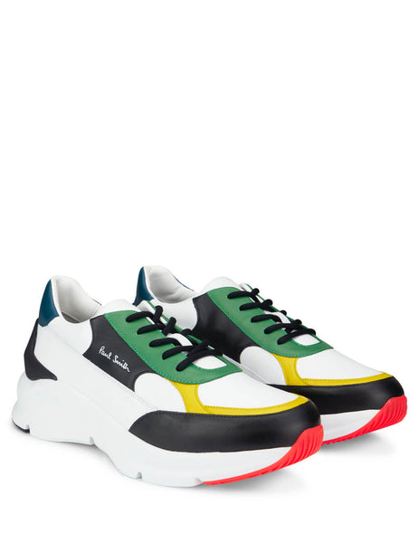 Paul Smith Men's Giulio Fashion White Multicoloured Explorer Shoes M1SEXP13AMOLV92