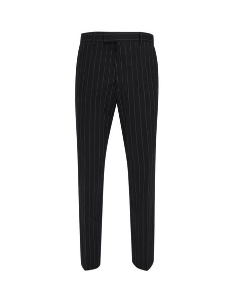 Men's Black Paul Smith Pinstripe Trousers M1R-926T-A01033-79