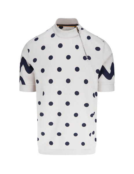 Men's Paul Smith Polka Dot T-Shirt in Off White- M1R-398U-EP2347-02