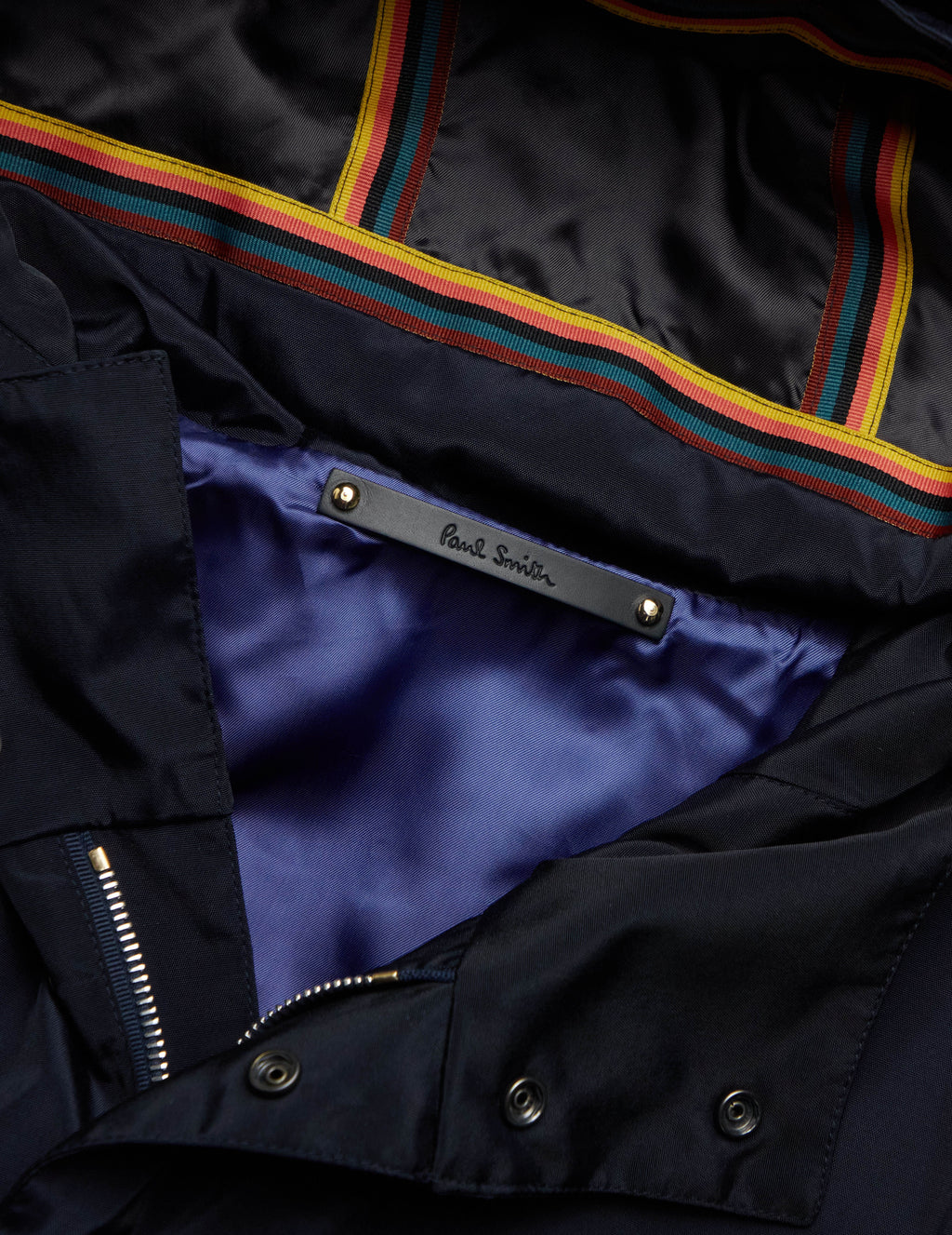 Men's Paul Smith Short Parka in Dark Navy. M1R-193U-E01156-49