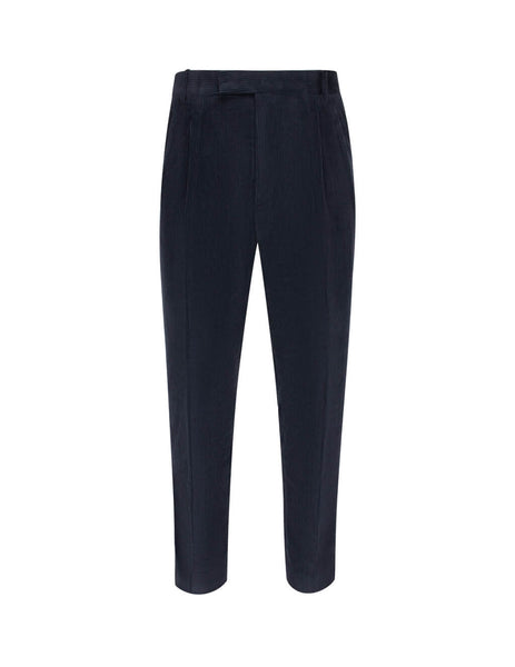 Paul Smith Men's Giulio Fashion Dark Navy Soft Formal Trousers M1R909TB0075549