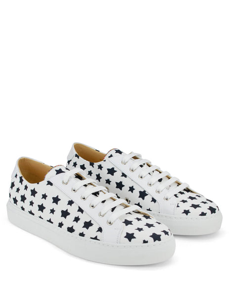 Paul Smith Men's White Star Print Sneakers M1S-SOT16-APLY-01