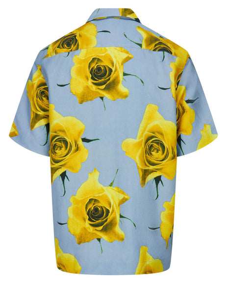 Men's Paul Smith Tailored Monarch Rose Shirt in Light Blue/Yellow - M1R-759U-F01433-12