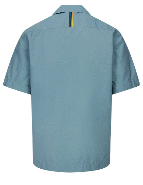 Men's Paul Smith Tailored Woven Shirt in Light Blue - M1R-759U-F01434-44