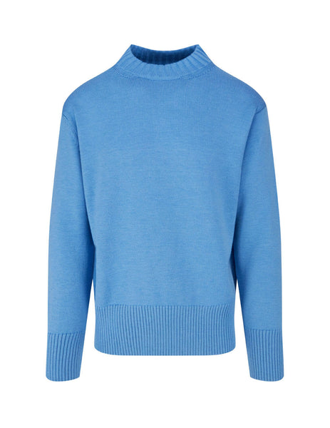 Men's Paul Smith Thick Trim Jumper in Light Blue. M1R-085U-E01300-44
