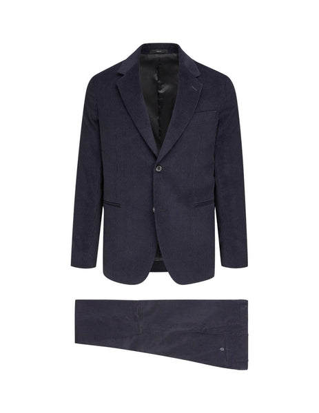 Paul Smith Men's Giulio Fashion Navy Corduroy Two-Piece Suit M1R1822A0075549