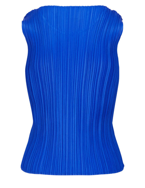 Women's PLEATS PLEASE ISSEY MIYAKE Basics Shirt Top in Blue - PP16JK901-72