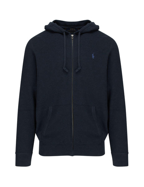 Polo Ralph Lauren Men's Navy Heather Cotton Full-Zip Sweatshirt 710727546002