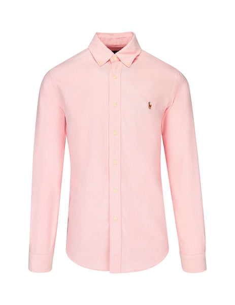 Polo Ralph Lauren Men's BSR Pink Slim Fit Oxford Shirt 710549084008