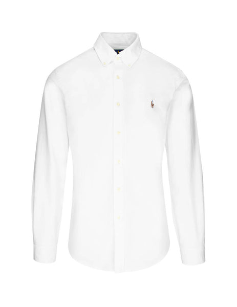Men's Polo Ralph Lauren Slim Fit Oxford Shirt in BSR White. 710549084006