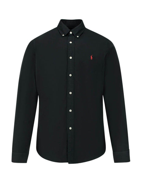 Polo Ralph Lauren Men's Polo Black Slim Fit Oxford Shirt 710772288001