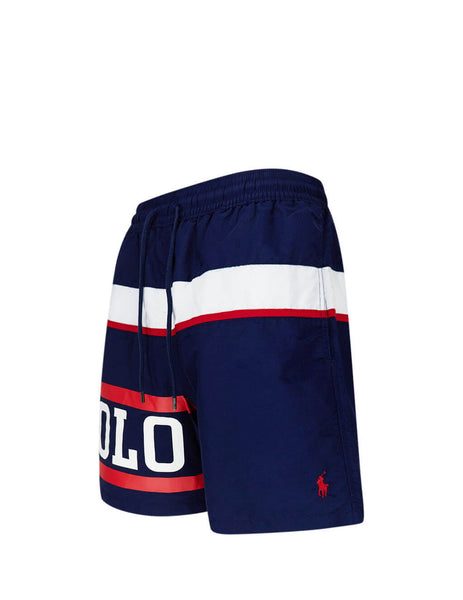 Polo Ralph Lauren Men's Giulio Fashion Nautical Polo 14cm Traveler Swim Shorts 710787141001
