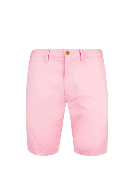Polo Ralph Lauren Men's Giulio Fashion Garden Pink Slim Fit Bedford Shorts 710737075009