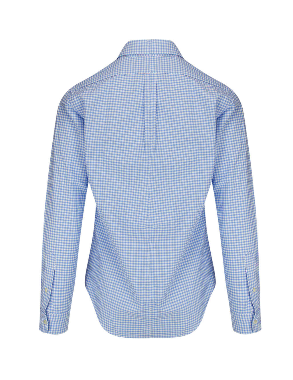 Polo Ralph Lauren Men's Light Blue Checked Sport Shirt 710794612005