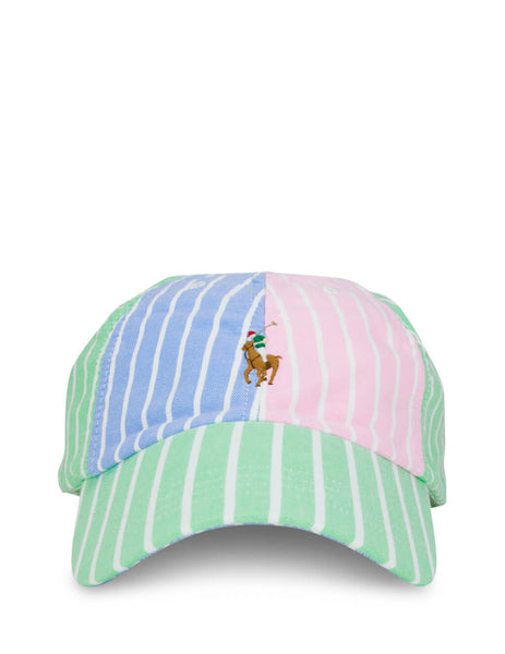 Polo Ralph Lauren Men's Green, Blue and Pink Classic Sport Hat 710788037002