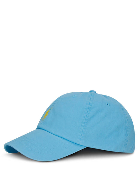Polo Ralph Lauren Men's Giulio Fashion Light Blue Cotton Baseball Cap 710673213042