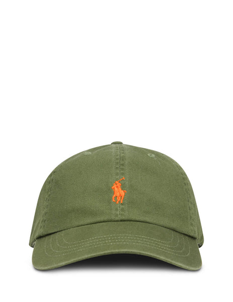 Men's Polo Ralph Lauren Cotton Chino Baseball Cap in Supply Olive - 710811338008