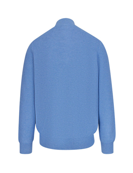 Polo Ralph Lauren Men's Giulio Fashion Soft Royal Heather Half-Zip Sweater 710701611030