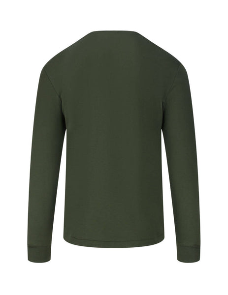Polo Ralph Lauren Men's Giulio Fashion Estate Olive Custom Slim Interlock Long Sleeve Tee 710760121005