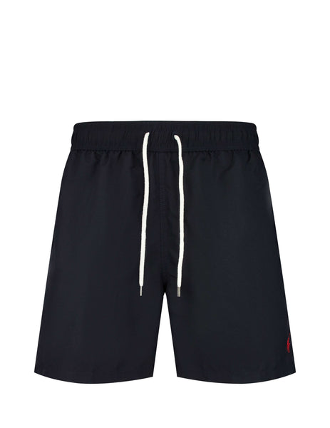Polo Ralph Lauren Men's Giulio Fashion Polo Black Traveler Swim Shorts 710659017006