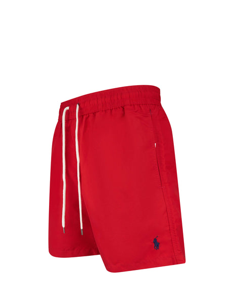 Polo Ralph Lauren Men's Giulio Fashion Red Traveler Swim Shorts 710659017009