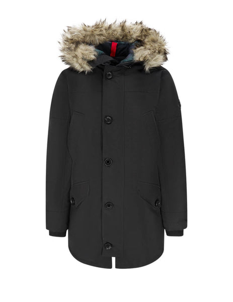 Polo Ralph Lauren Men's Black Faux-Fur-Trim Down Parka 710756916004