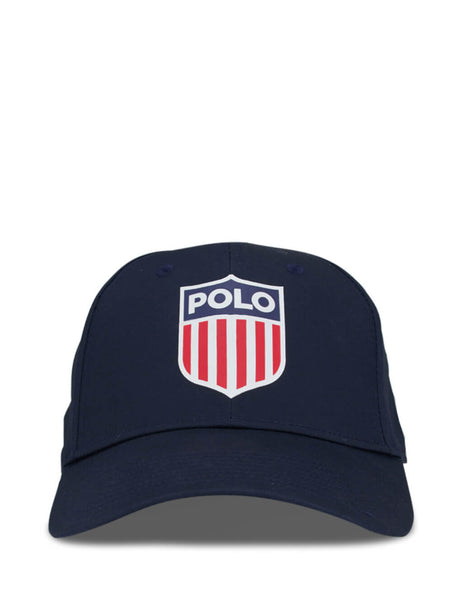 Polo Ralph Lauren Men's Aviator Navy Flag Shield Baseball Cap 710783453001