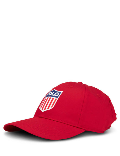 Polo Ralph Lauren Men's Red Flag Shield Baseball Cap 710783453002