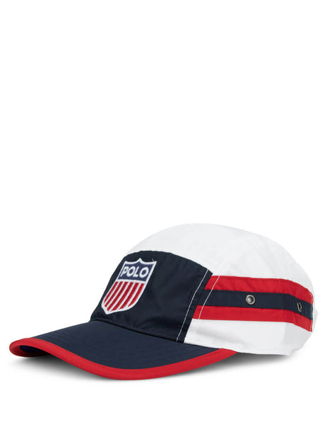 Polo Ralph Lauren Men's Navy, Red and White Flag Shield Five-Panel Cap 710783543001