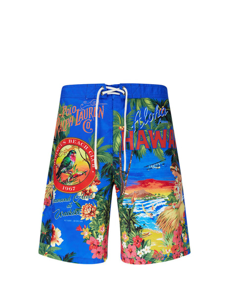 Polo Ralph Lauren Men's Giulio Fashion Hawaiian Cigar Box Kailua Swim Shorts 710791320001