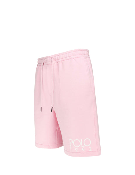 Polo Ralph Lauren Men's Giulio Fashion Garden Pink Magic Fleece Shorts 710746444002
